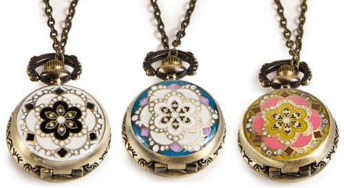 Umhaengeuhr Halskette mit Sprungdeckel Orientalisch versch Motive