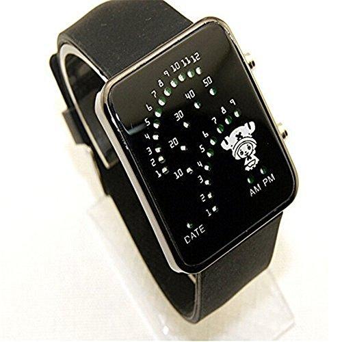 Bonamana einteiliges Chopper LED Digital Armbanduhr Cosplay Zusatz Geschenk Schwarzes