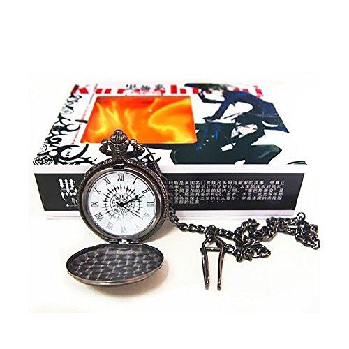 Bonamana Anime schwarzer Butler Kuroshitsuji Logo Taschen Uhr neu im Kasten