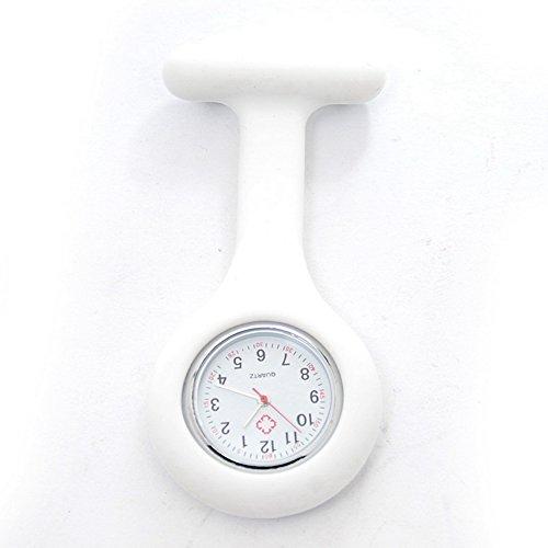 lintimes weiss hohe Qualitaet Unisex Krankenschwestern Revers Armbanduhr Silikon