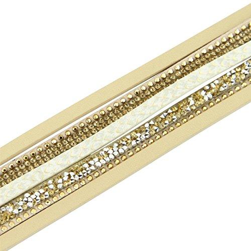 Daphnee und Compagnie Armband Damen Leder braun mit DAPHNEE 1195