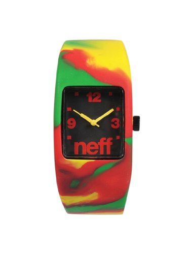 Neff Bandit Watch Uhr Rasta Swirl Red L XL