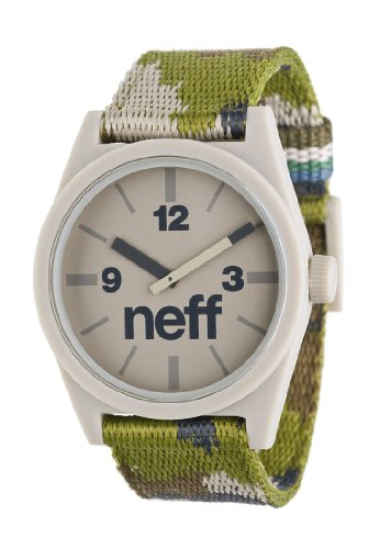 Neff Daily Woven Watch Uhr Camo Green Uni