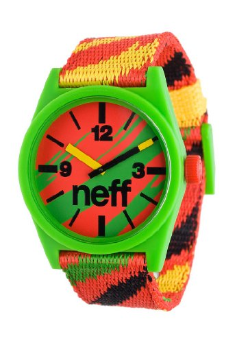 Neff Daily Woven Watch Uhr Rasta Red Uni