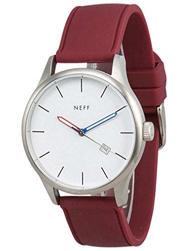 Neff Esteban PU Herren Designer Armbanduhr Weiss Kastanienbraun Eine Groesse passend fuer alle