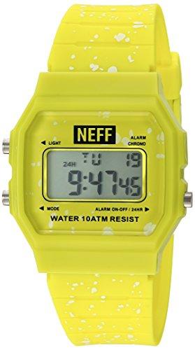NEFF Herren Accessoires Uhr Flava XL Surf gelb Einheitsgroesse