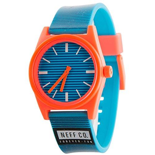 Neff nf0201 bscy blau Gummi Strap Band Blau Zifferblatt Armbanduhr
