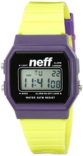 Neff Unisex nf0204prlm flavum Digital Display Chinesische Automatische gelb Armbanduhr
