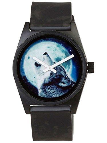 Neff NF0208 HOWL Schwarze Band blaue Vorwahlknopf taegliche wilde analoge Uhr der Maenner