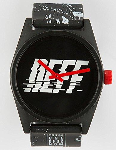 Neff NF0208 SPBK Herren Schwarz Gummiband Schwarzes Zifferblatt Smart Watch