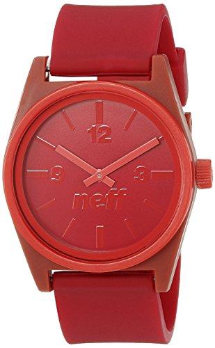 Neff NF0217MNRD Armbanduhr Unisex Analoganzeige japanisches Quarzuhrwerk Rot