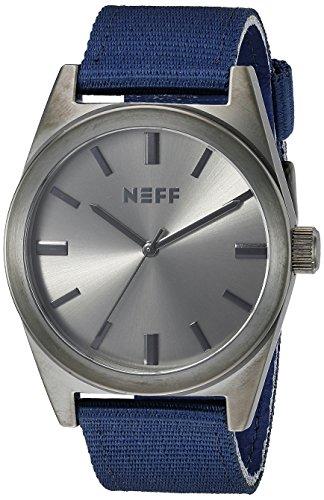 Neff Unisex nf0223gmnv Naechtliche Analog Display Japanische Quarz blau Armbanduhr