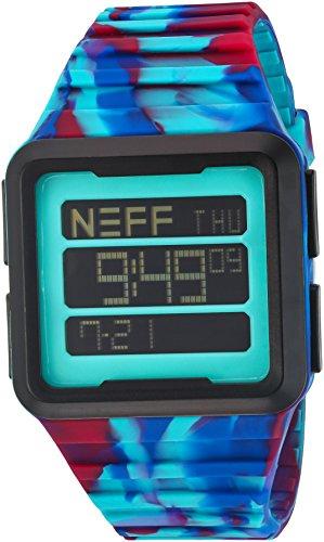 Neff NF0234 TROP Mehrfarbiges Silikon Band der schwarzen Vorwahlknopf intelligenten Uhr