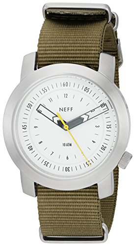 Neff Herren nf0235slol Tactical Analog Display Japanisches Quarz Gruen Armbanduhr