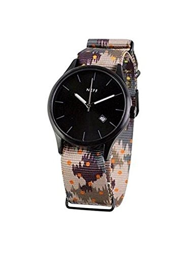 Neff nf0236 camo Unisex Nylon Bunte Band Schwarz Zifferblatt Smart Watch