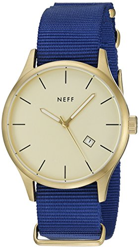 Neff Herren nf0236gdbl Esteban Analog Display Japanische Quarz blau Armbanduhr