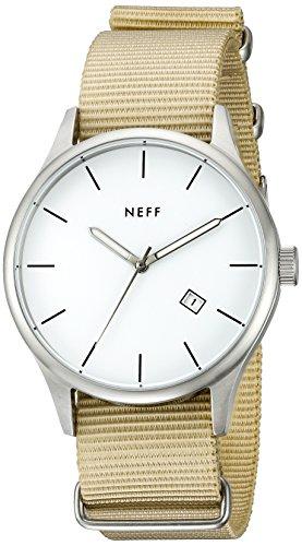 Neff Herren nf0236slta Esteban Analog Display Japanisches Quarz beige armbanduhr