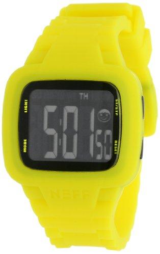 NEFF Unisex Armbanduhr Digital Quarz Gelb NF0207YLLW