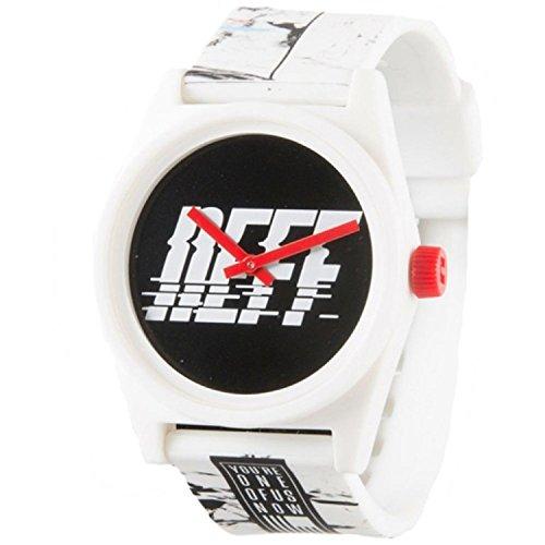 NEFF NF0208 SPWH Herren weisses Gummiband schwarzes Zifferblatt Smart Watch