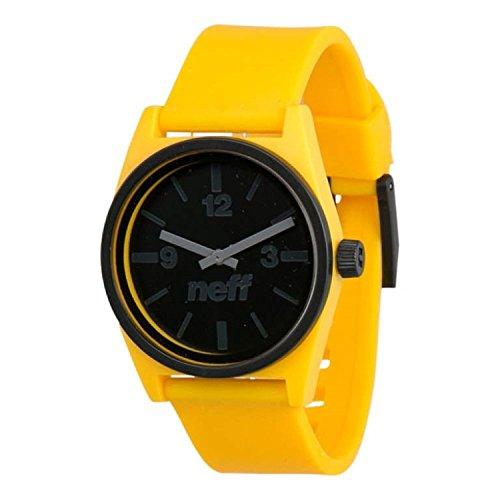 NEFF NF0217 YWBK Herren gelbes Gummiband schwarzes Zifferblatt Smart Watch