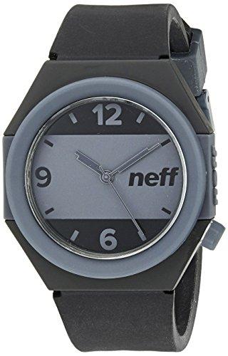 NEFF NF0225 BKGY Herren Schwarz Silikon Band Zwei Tone Dial Smart Watch