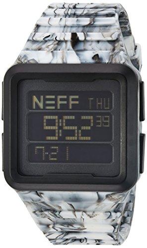 NEFF NF0234 BKWH Schwarze weisse Silikon Band schwarze Vorwahlknopf intelligente Uhr der Maenner