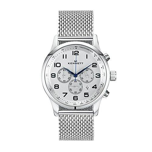 Kennett Herren savro Silber Milanaise Moderne Armbanduhr svsilwhmilmd