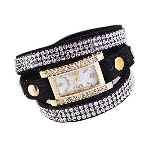 Fandecie Frauen Fashion Jewelry Armbanduhr schwarz