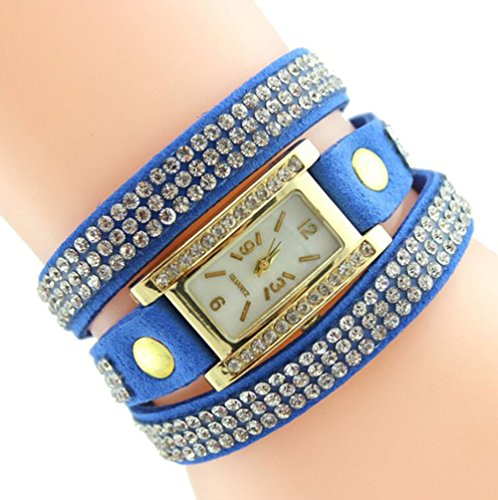 Fandecie Frauen Fashion Jewelry Armbanduhr blau