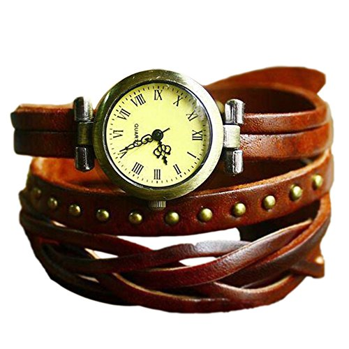 Fandecie Frauen Maedchen Charme Webart Armband Armbanduhren