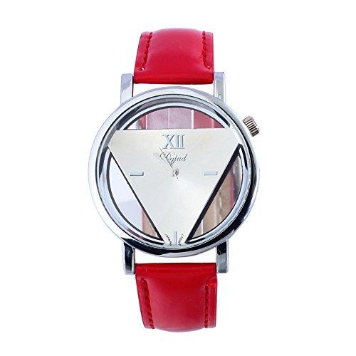 Fandecie Hohl Dreieck Studenten Armbanduhren leatherStrap Band