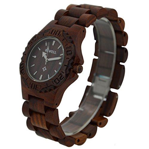 Herren Holz Armbanduhr phosphoreszierende Zeiger Display Zeit Uhr Armband Armreif