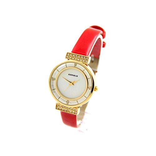 Damen Uhr mit Leder rot COMELY 986