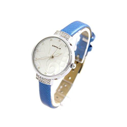 Zeigt Damen Arabesque Leder blau COMELY 820
