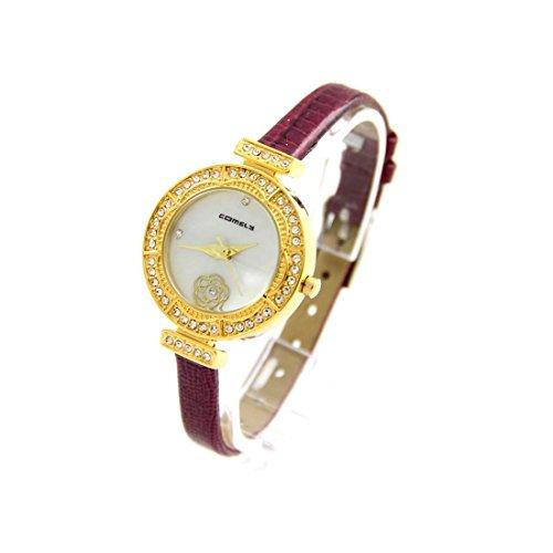 Zeigt Damen Armband Leder violett COMELY 1628
