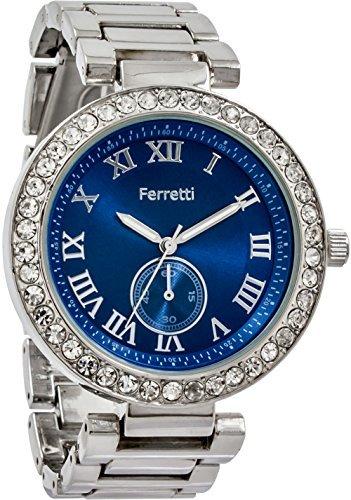 Ferretti Damen Armbanduhr Analog Metall Silber FT12602