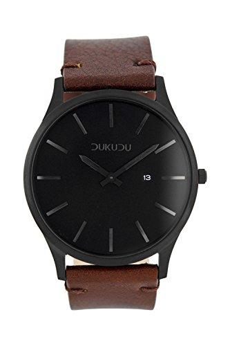 Dukudu Ingmar Herren Armbanduhr Dunkelbraun DU 006