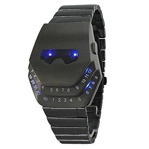 fanmis Herren Stil Casual Uhren Gadgets Interessante Amazing Snake Head Design Blau LED Uhr