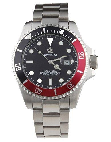 fanmis Luxus Schwarz Zifferblatt drehbare Luenette Luminous Quarz Herren Damen Silber Edelstahl Armbanduhr