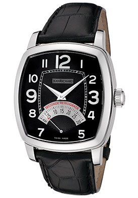 Jean Richard TV Bildschirm Retrograde Herren Armbanduhr auf Schwarz Gurt 45016 11 11 a 61 a