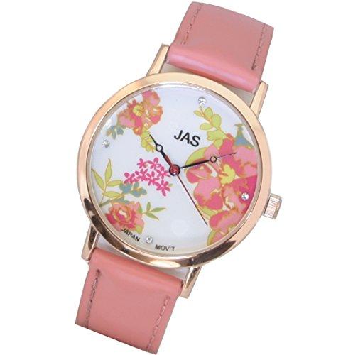 Jas Armbanduhr Damen Fleurs Bebe Rose
