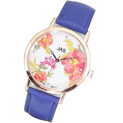 Jas Armbanduhr Damen Fleurs Bleu