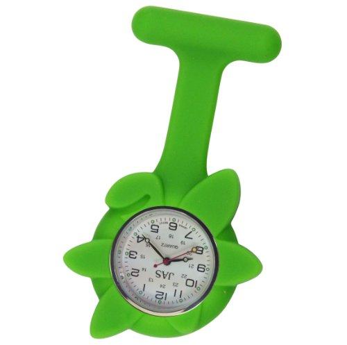 Krankenschwester Uhr Silikon Infektionskontrolle Lime Green Flower