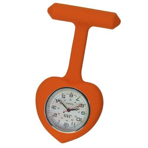 Krankenschwester Uhr Silikon Infektionskontrolle orange Herz