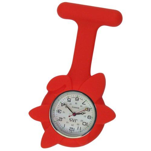 Krankenschwester Uhr Silikon Infektionskontrolle rot Blume