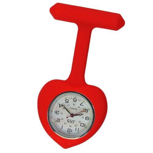 Krankenschwester Uhr Silikon Infektionskontrolle rot Herz