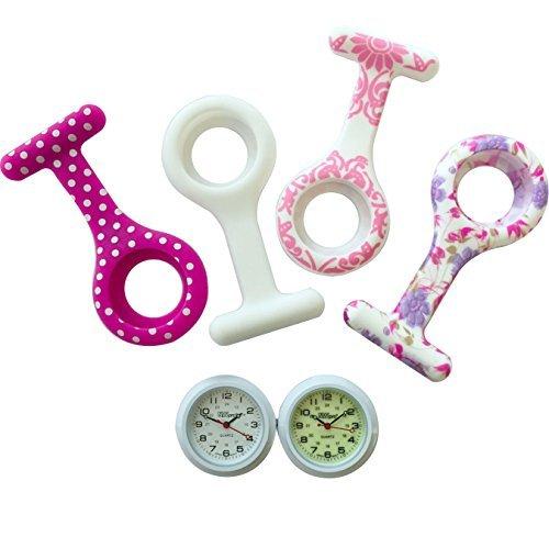 Jas Unisex Krankenschwestern Revers Armbanduhr Silikon Infektionskontrolle Pretty Pink Collection