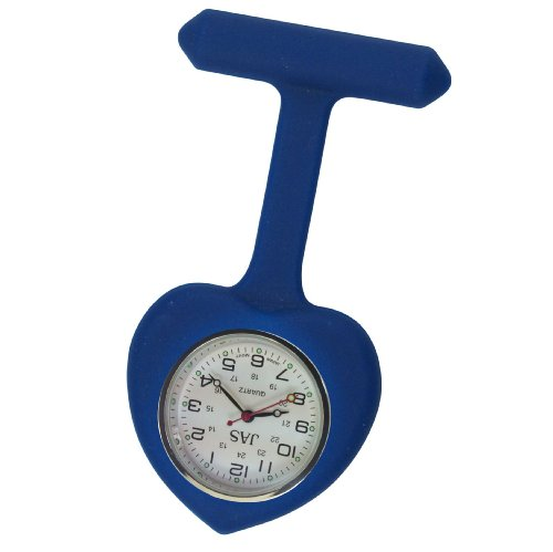 Krankenschwestern Revers Armbanduhr Silikon Infektionskontrolle Navy Blau