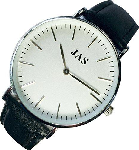 Jas Milan Armbanduhr Midnight Band Schwarz Silber