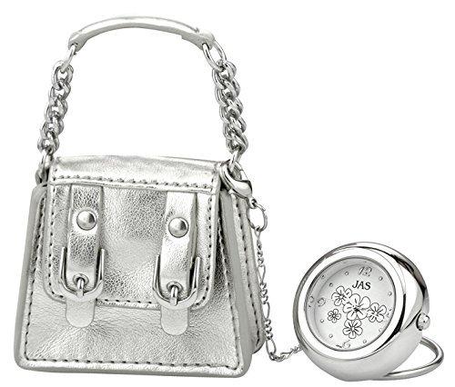 Neuheit Charm Armbanduhr Silber Handtasche